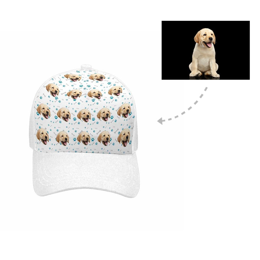 8b9e17ce9d3 Custom Labrador Retriever Face Paw and Bone Unisex Baseball Cap ...