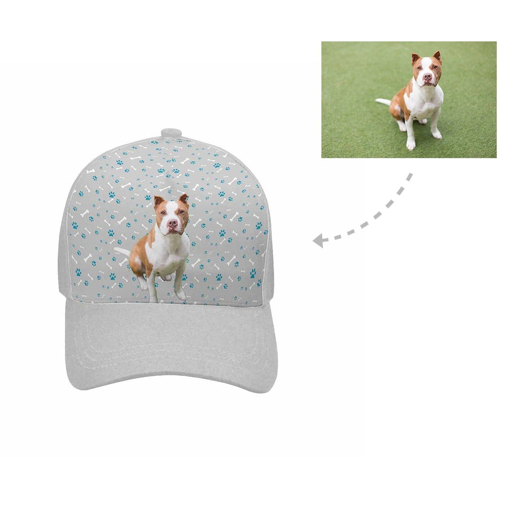 Custom Pit Bull Paw and Bone Unisex Baseball Cap
