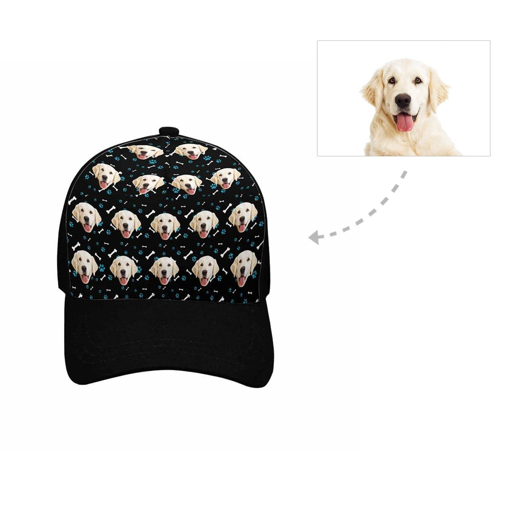 Custom Golden Retriever Face Paw and Bone Unisex Baseball Cap