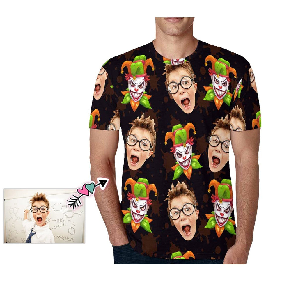 Custom Child Face Joker Smile Men's T-shirt