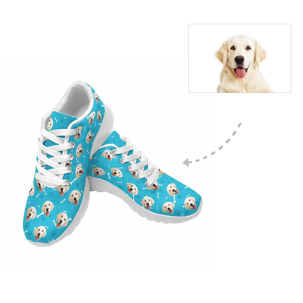 Custom Golden Retriever Paw and Bone Men's Sneaker