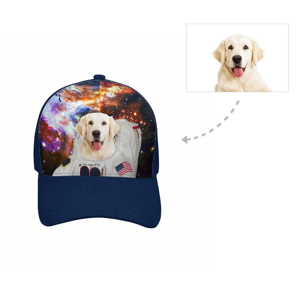 Custom Galaxy Dog Unisex Baseball Cap