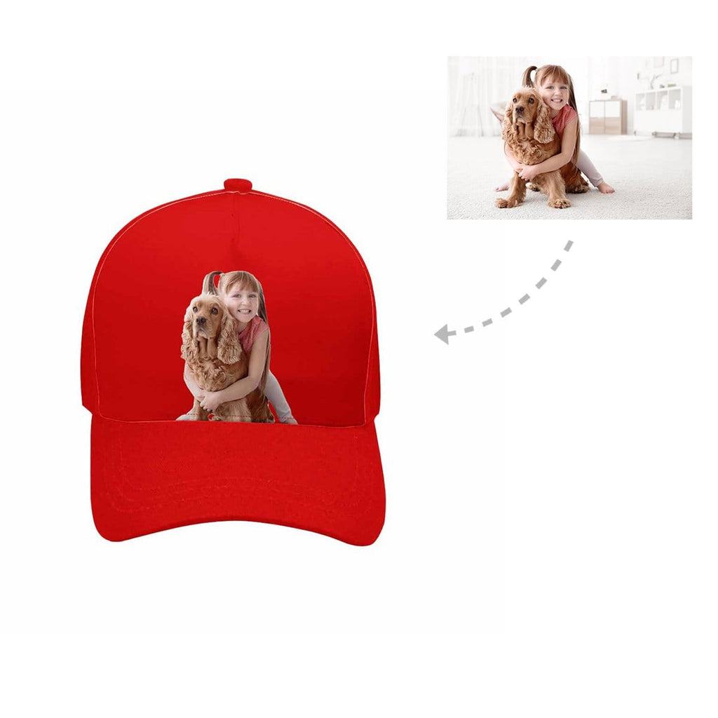 Custom Kid & Dog Unisex Baseball Cap