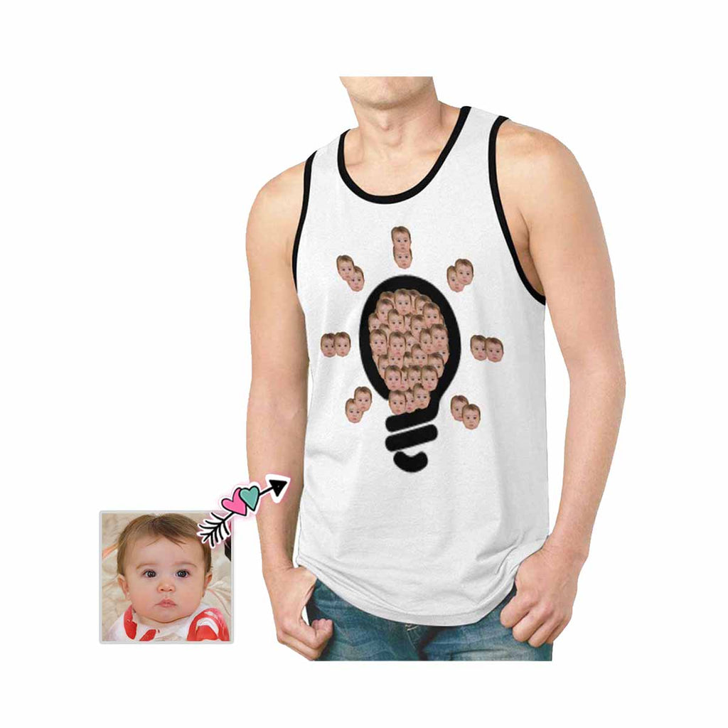 Custom Face Bulb Men's All Over Print Tank Top