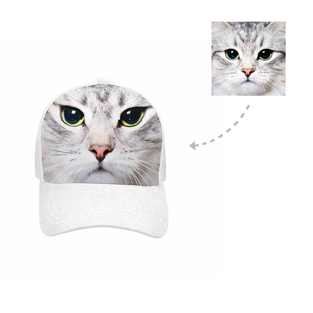 Custom Cat Face Unisex Baseball Cap