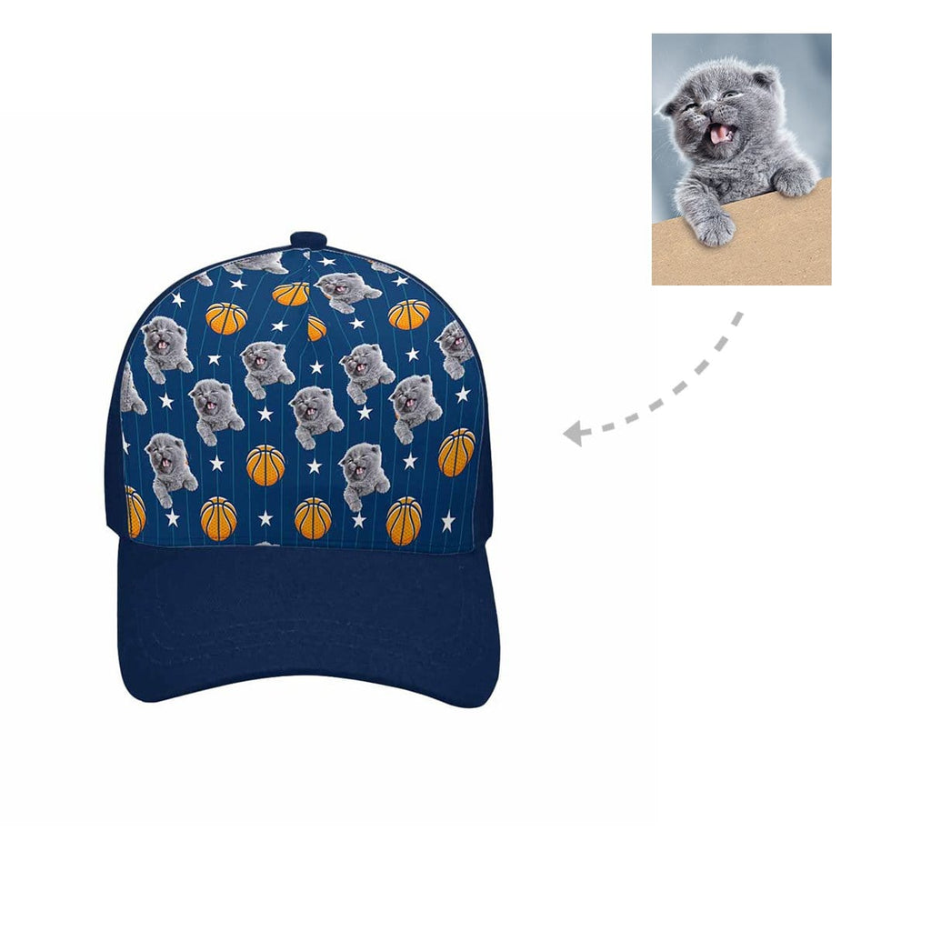 Custom Basketball Cat Unisex Baseball Cap