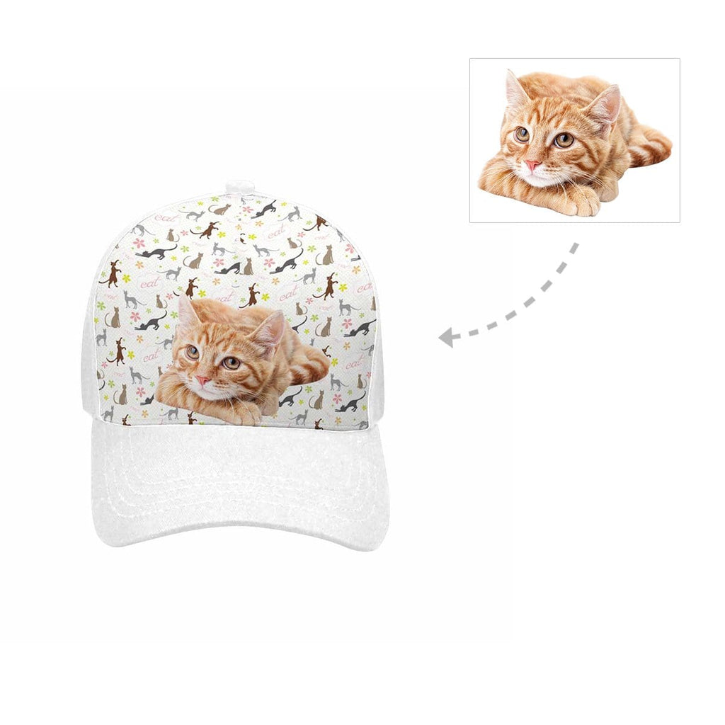 Custom Cat Flower Unisex Baseball Cap