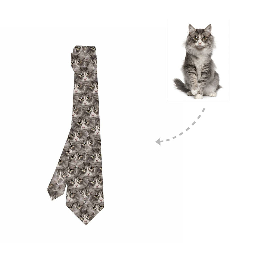 Custom Cat Face Classic Necktie