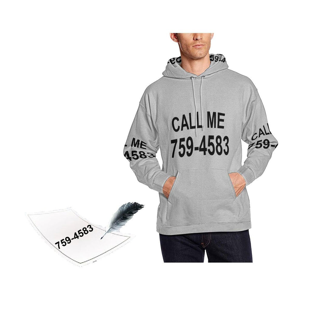 Custom Phone Number Men's Hoodie