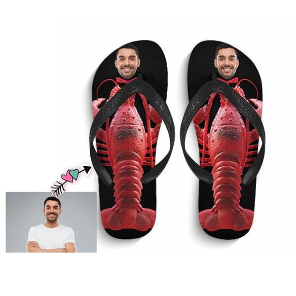 Custom Face Lobster Flip Flops