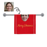 Custom Face Merry Christmas Towel