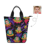 Custom Face Night Sky Stars Nylon Lunch Bag