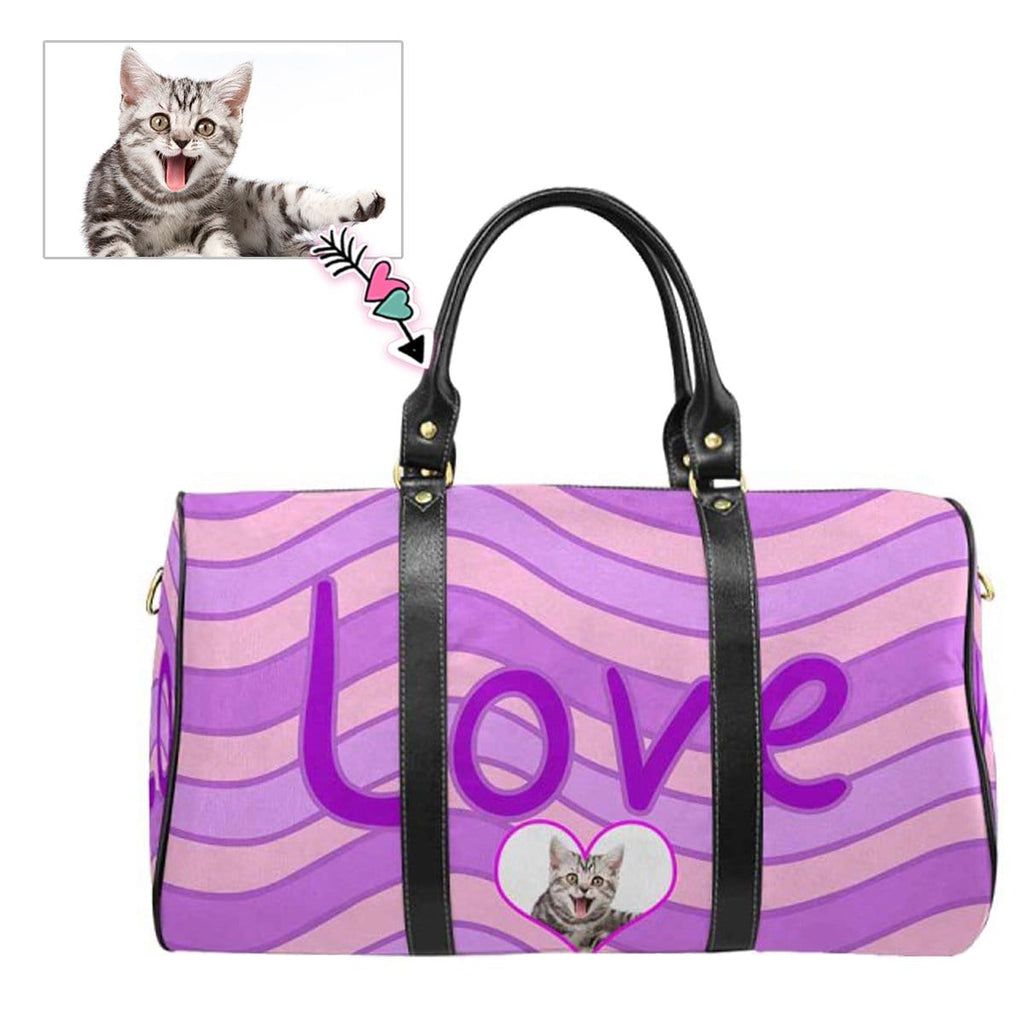 Custom Face Purple Love Travel Bag