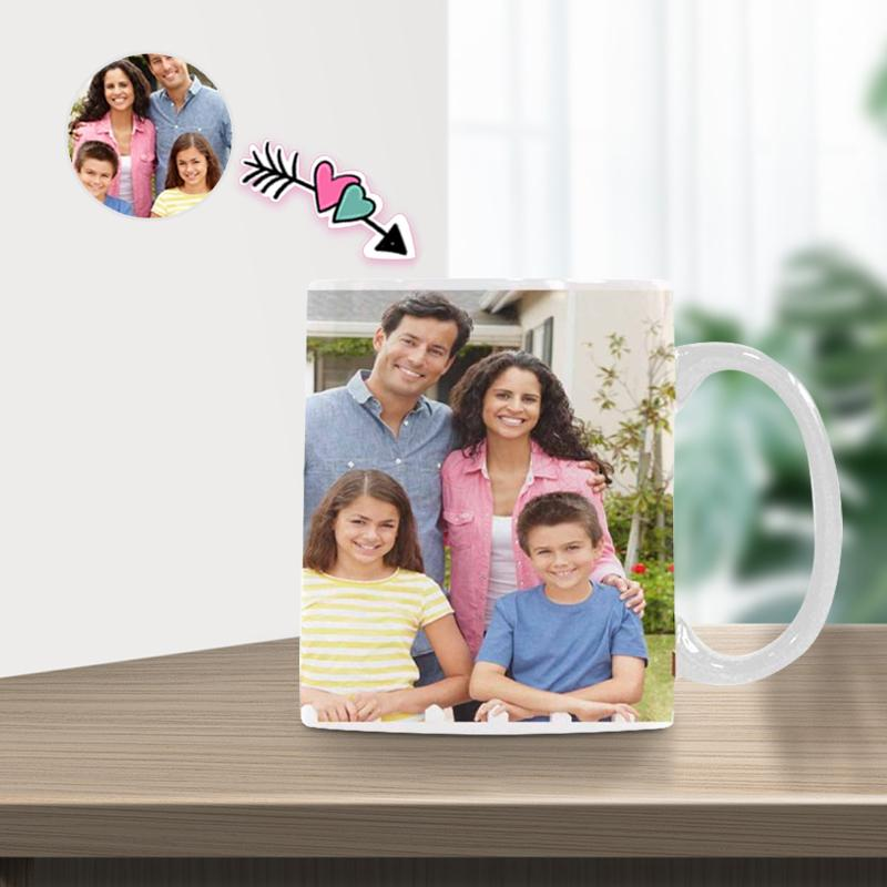 Custom Family Photo Classical White Mug