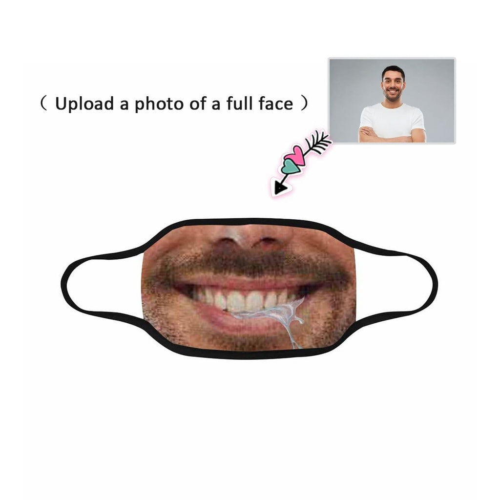 Custom Face Gluttonous Man Fabric Mouth Mask