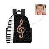 Custom Face Piano Multi-pocket Nylon Backpack