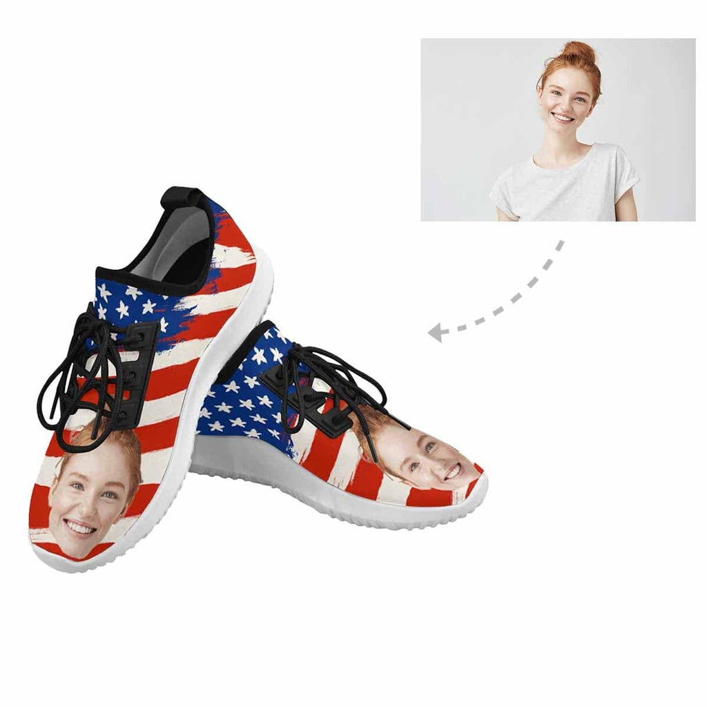 Custom Face Flag Dolphin Ultra Light Men's Running Shoes