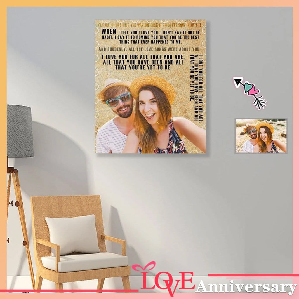 Custom Photo Turn Back Clock Poster