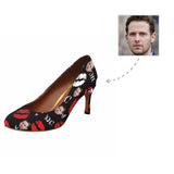 Custom Boyfriend Face Red Lips Women's Pumps