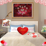 Custom Face Red Starry Sky Wooden Photo Puzzle 500/1000 Pieces