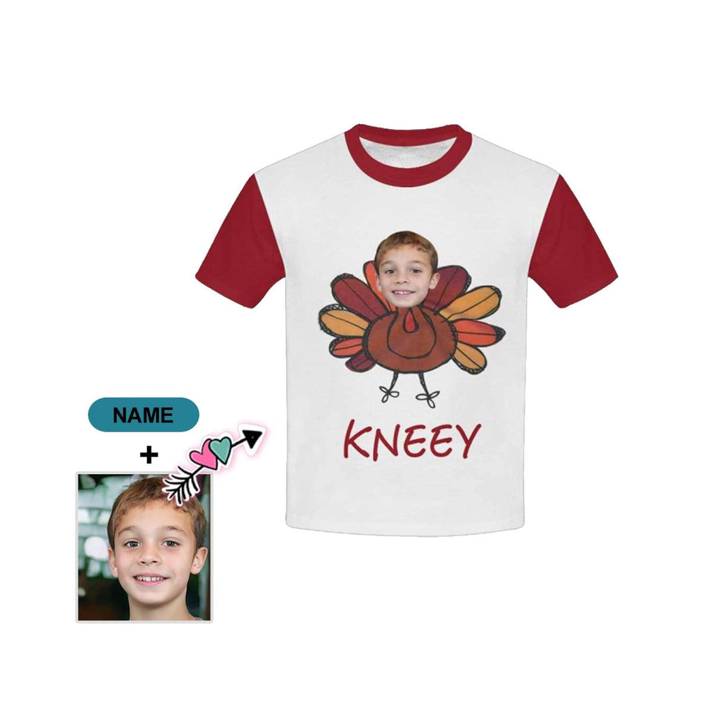 Custom Face&Name Chicken Kid's All Over Print T-shirt