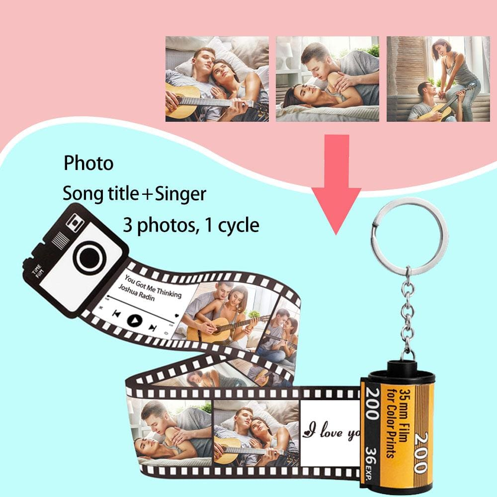Custom Photo Acrylic Keychain Personalized Valentine/'s Day Gifts For Friend Custom Photo/&Song Title Singer Love Acrylic Keychain