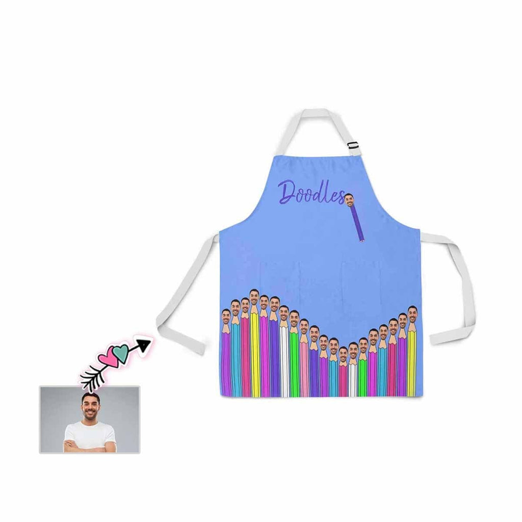 Custom Face Pencil All Over Print Adjustable Apron