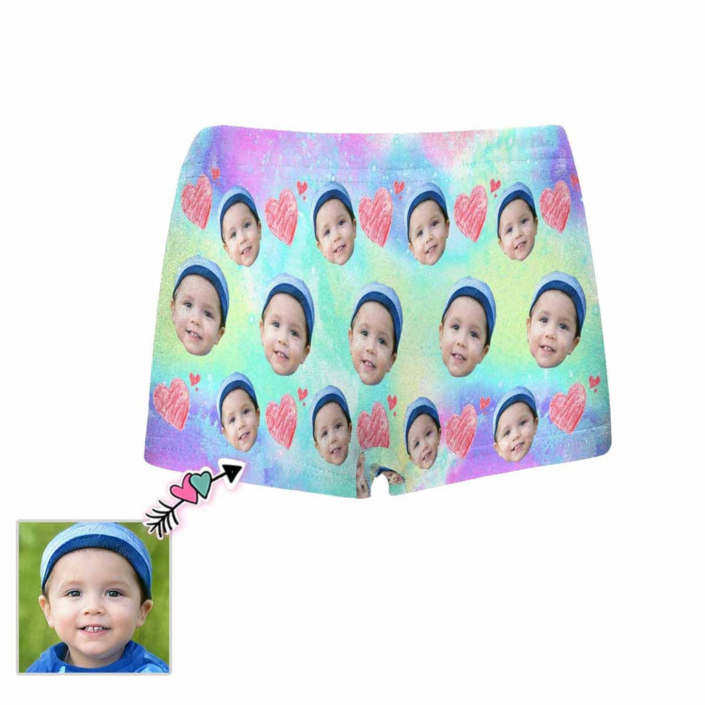 Custom Face Starry Sky Kids' All Over Print Boxer Briefs