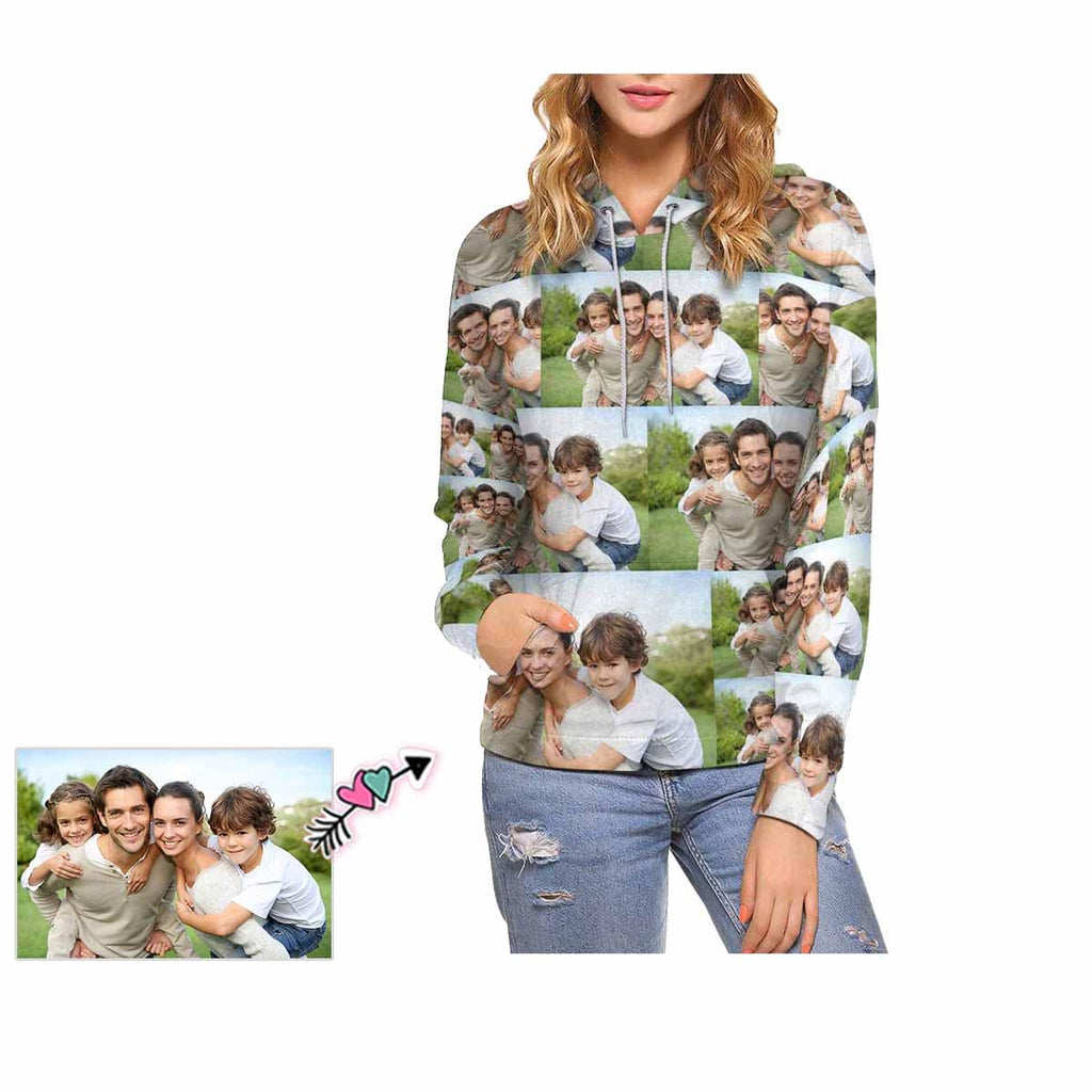 Custom Photo Women's All Over Print Hoodie