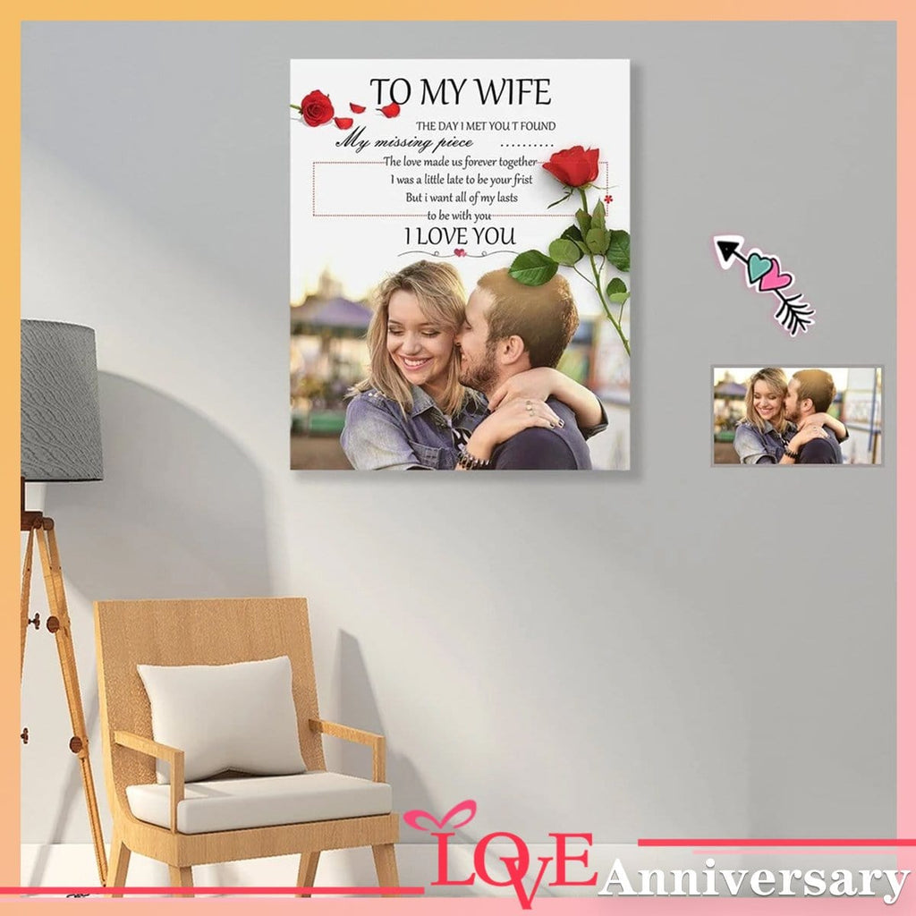 Custom Photo I Love You Red Rose Poster