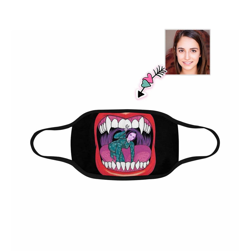 Custom Face Prop Up Fabric Mouth Mask