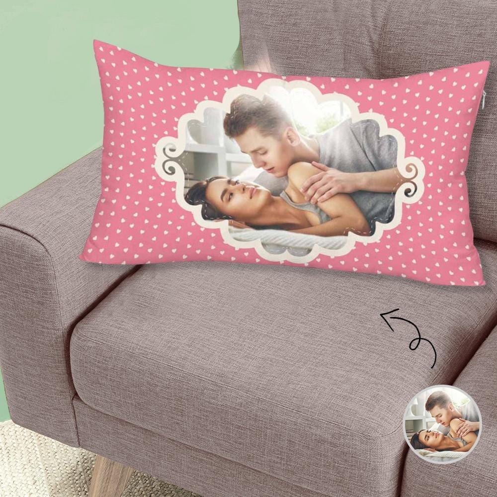 Custom Face Pattern Rectangle Pillow Case