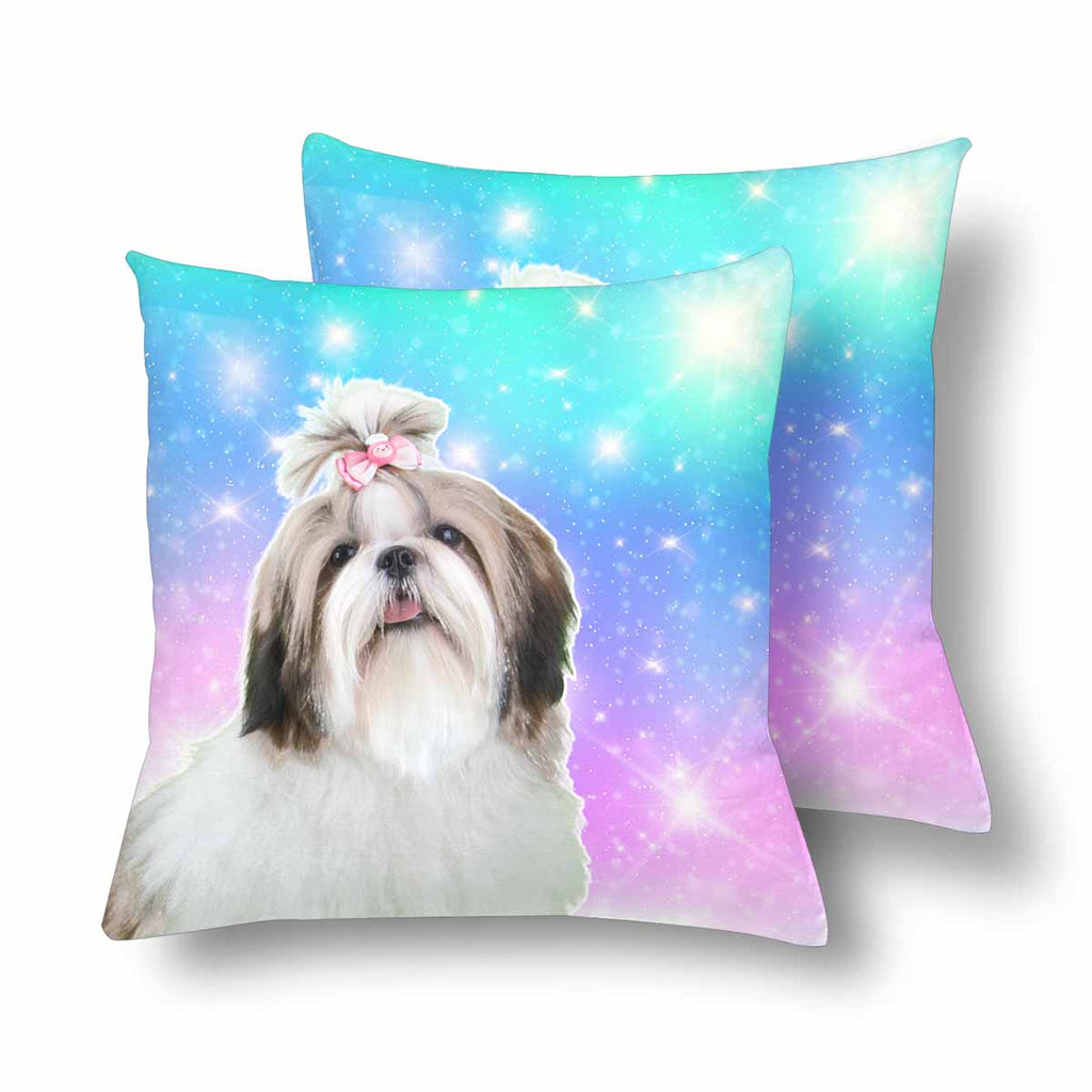 Custom Galaxy Shih Tzu Dog Throw Pillow Cover