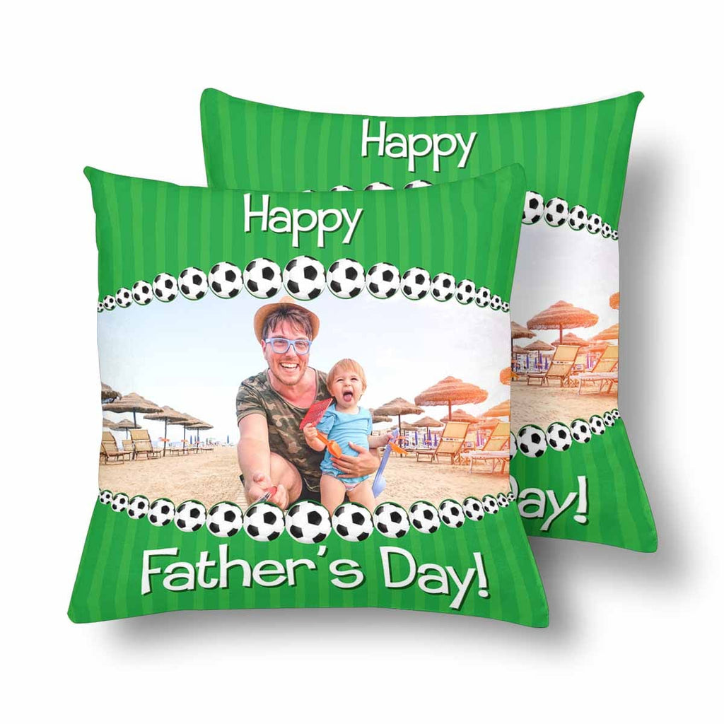 Custom Photo Father's Day Throw Pillow  Cover