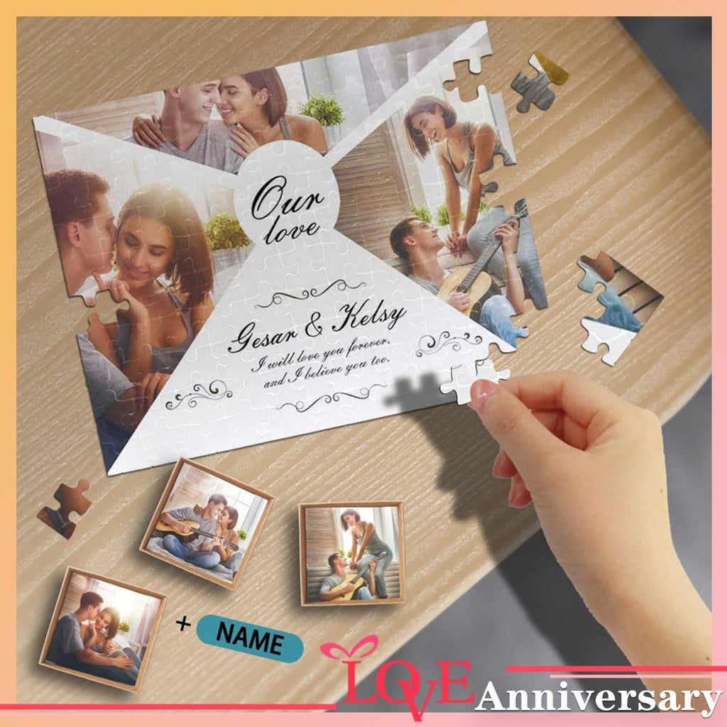 Custom Photo&Name I Will Love You Forever Rectangle Jigsaw Puzzle Best Indoor Gifts 110/500/1000 Pieces