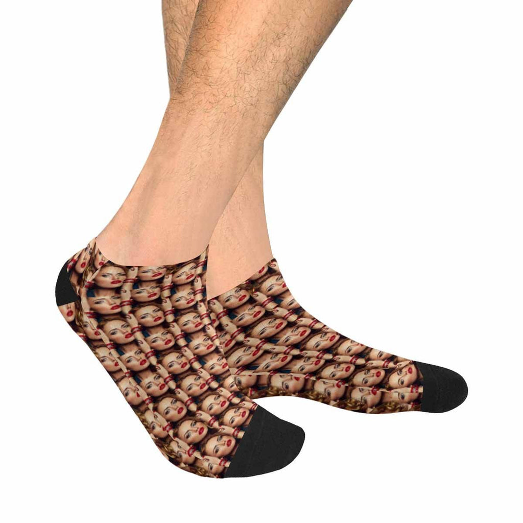Custom Face Lover Men's Ankle Socks