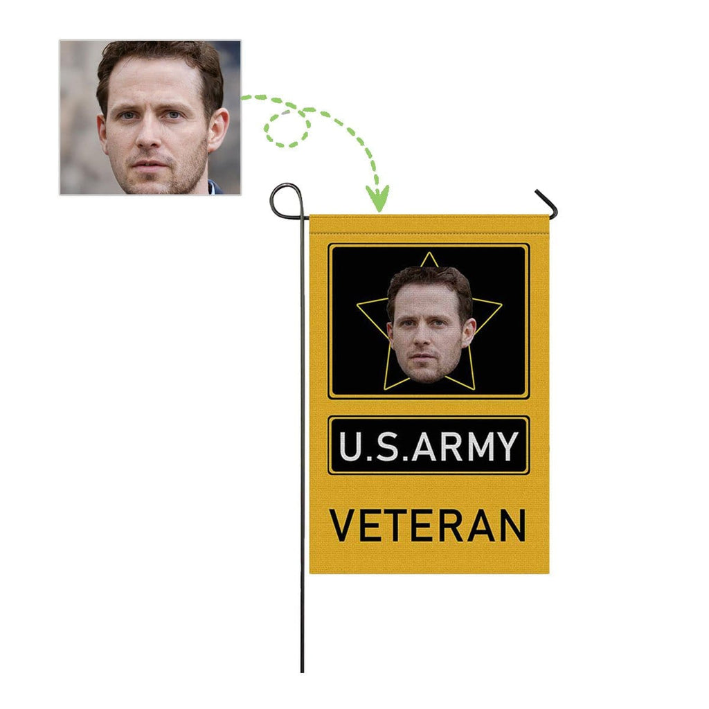 Custom Face U.S. Army Garden Flag