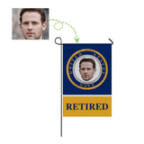 Custom Face Retired Navy Garden Flag