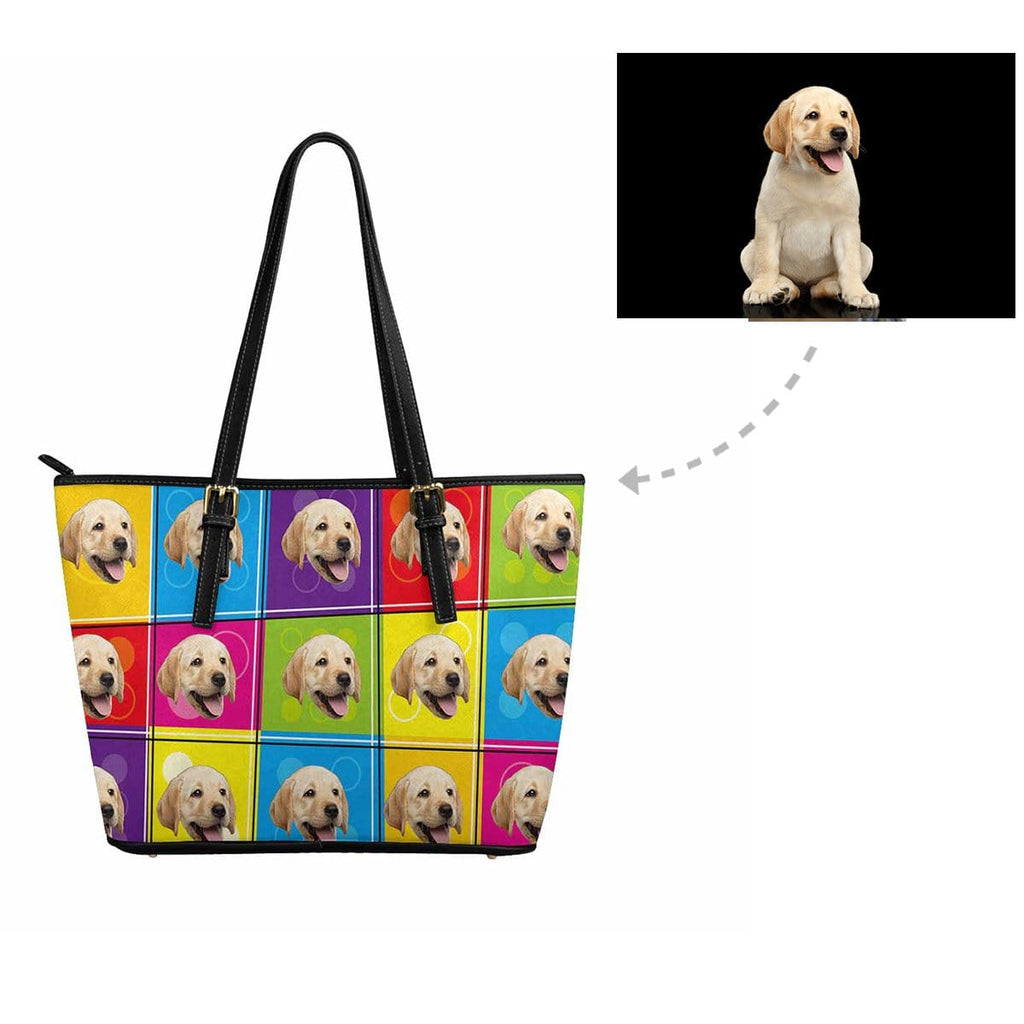 Custom Colorful Dog Women's Tote Bag