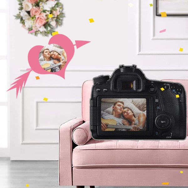 Custom Photo Camera Shaped Pillow