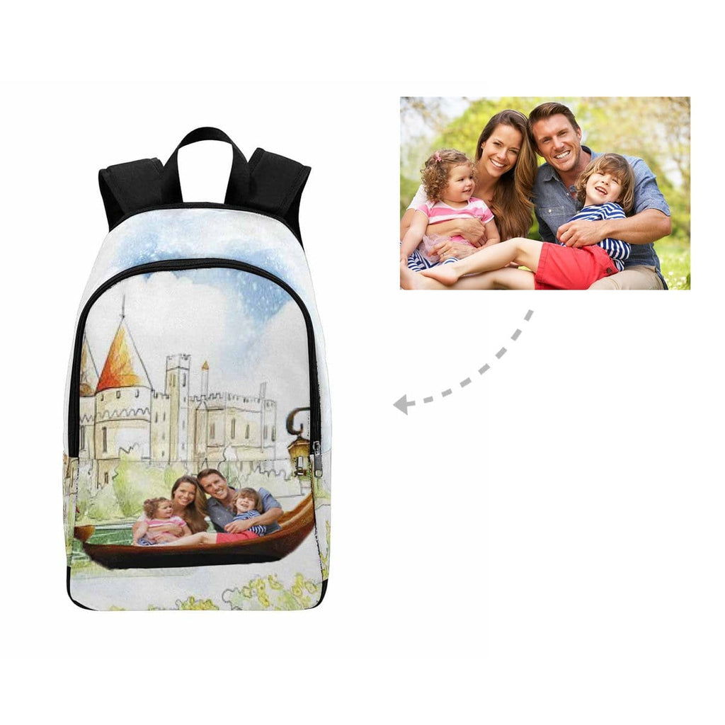 Custom Family Cartoon Castle Backpack