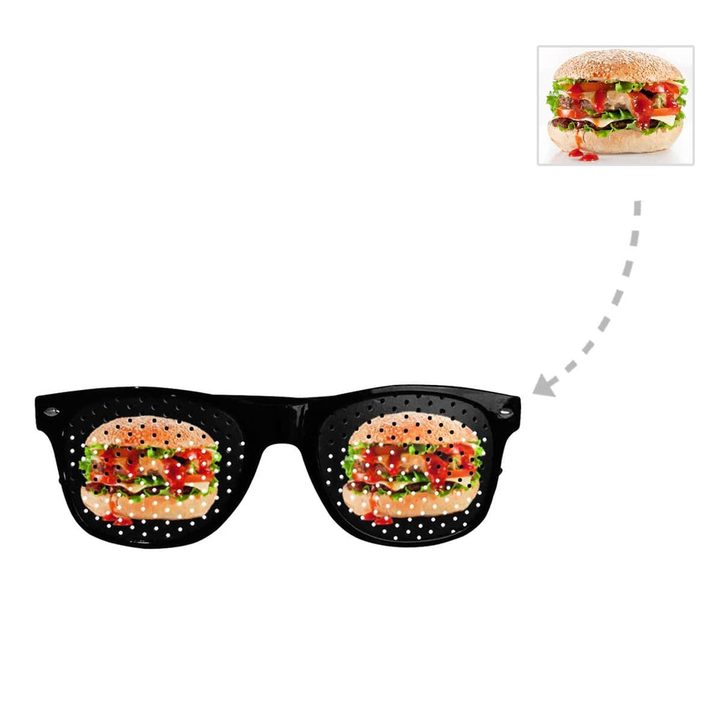 Custom Photo Unisex Perforated Lenses Sunglasses