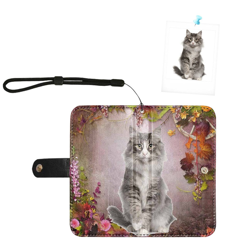 Custom Photo Secret Garden Flip Leather Purse for Mobile Phone