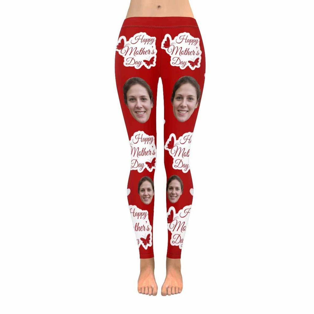 Custom Face Mother's Day All-Over Low Rise Yoga Leggings
