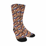 Custom Couple Multi Face Sublimated Crew Socks