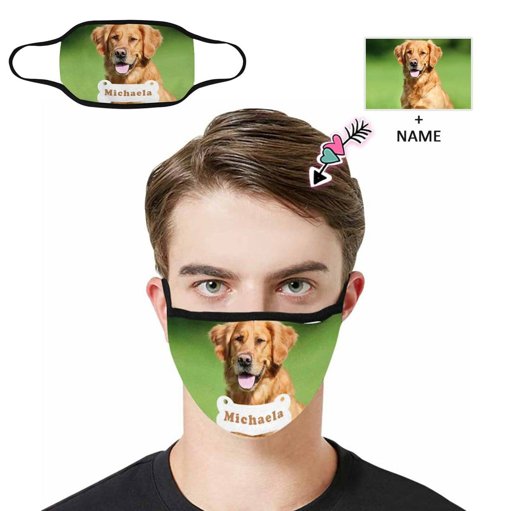 Custom Photo&Name Dog Fabric Mouth Mask