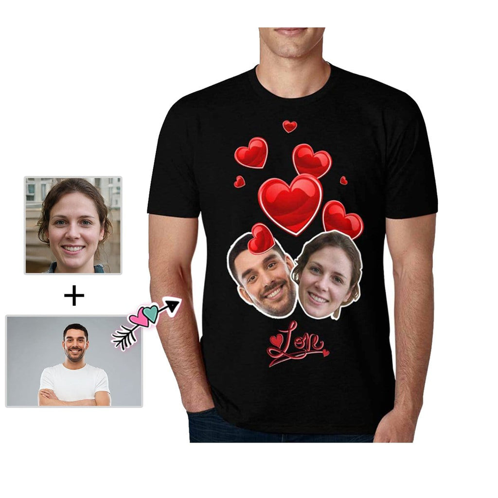 Custom Face Love With You Men's All Over Print T-shirt