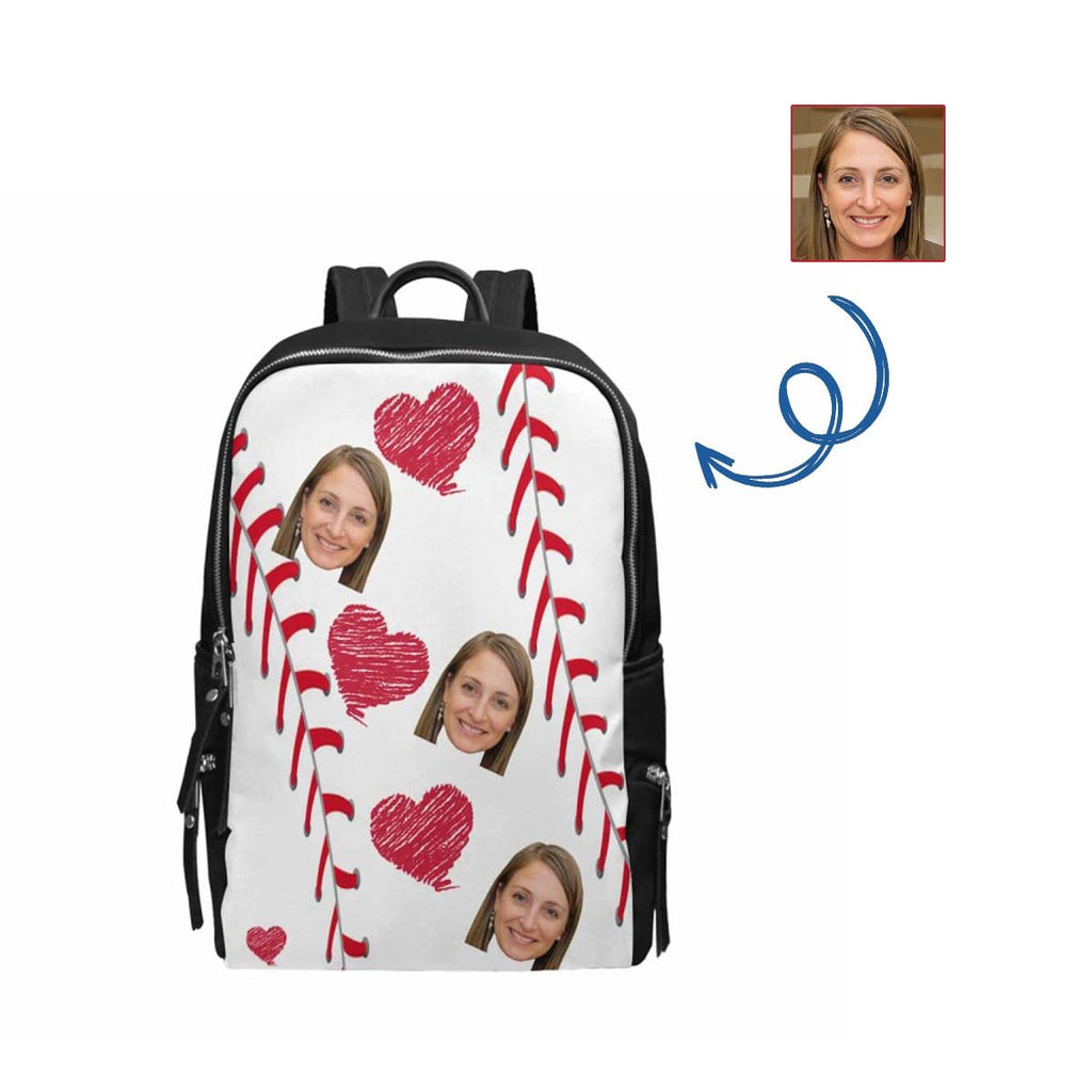 Custom Wife Face Red Love School Bag