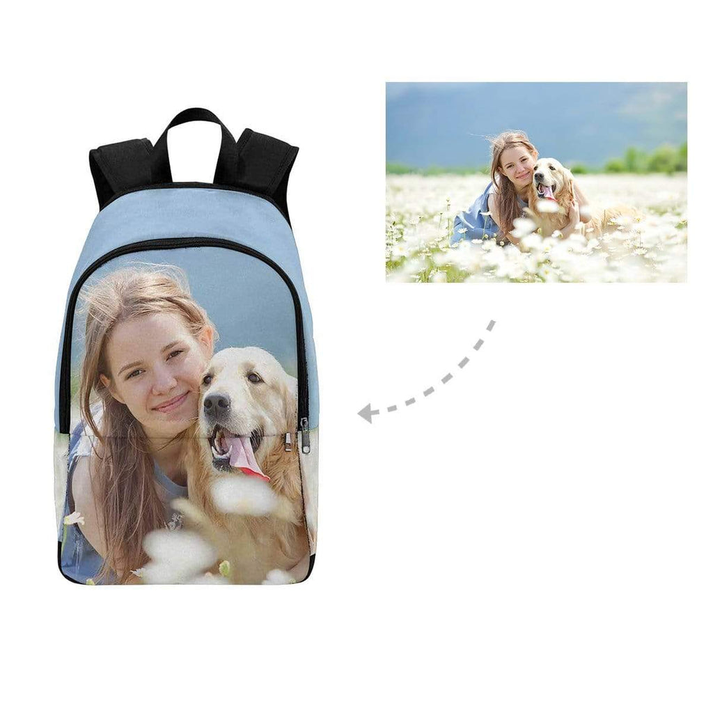 Custom Dog & Owner Photo Backpack