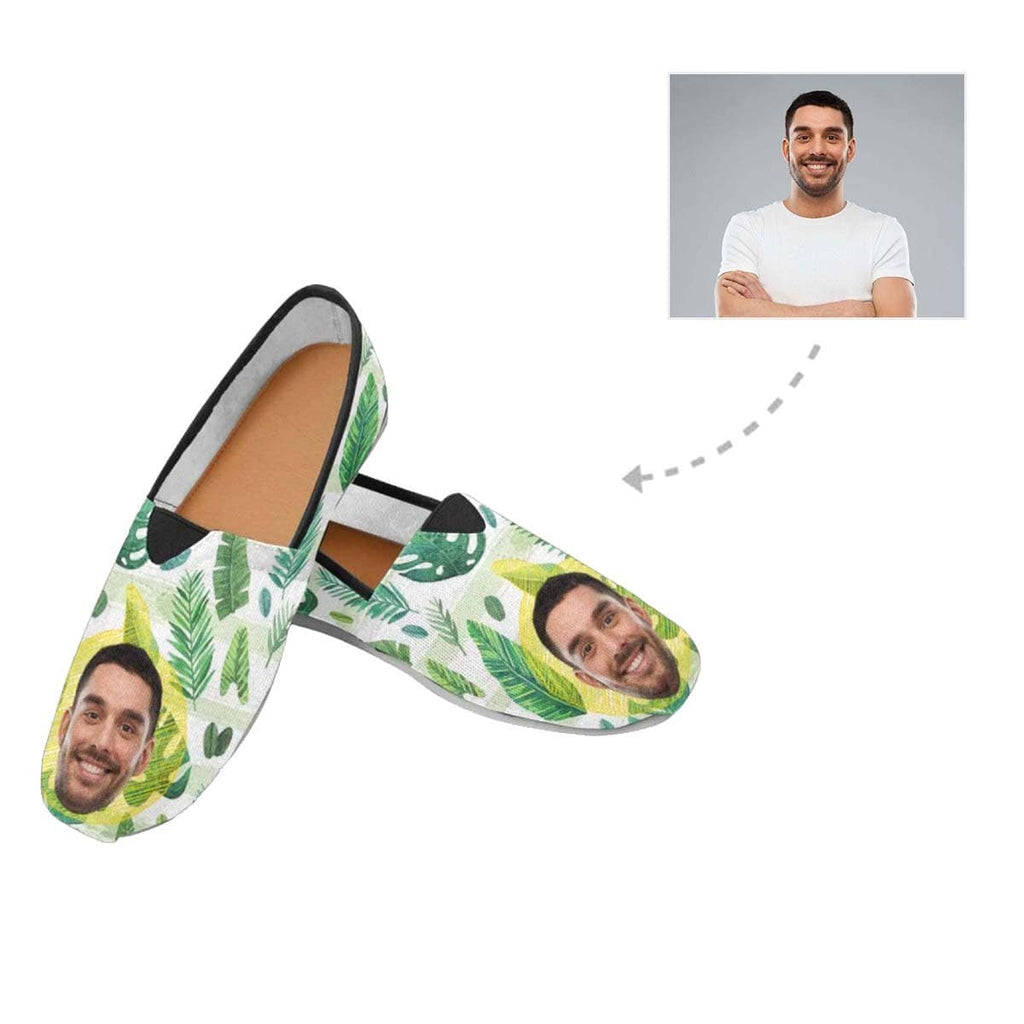 Custom Boyfriend Face Pear Casual Canvas Women's Shoes